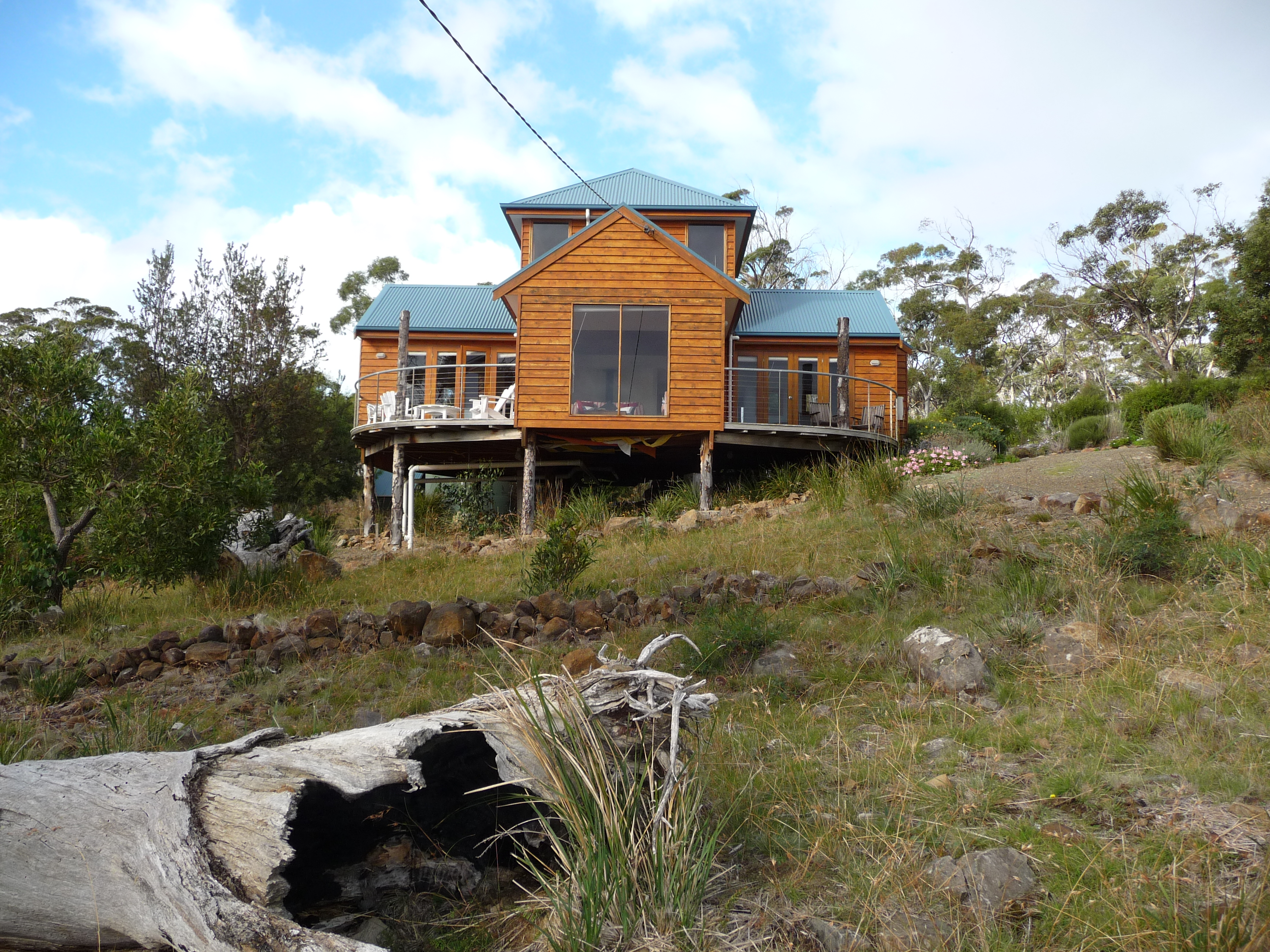 The Tree House Accommodation Bruny Island block view